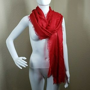 Red Silk and Modal Scarf